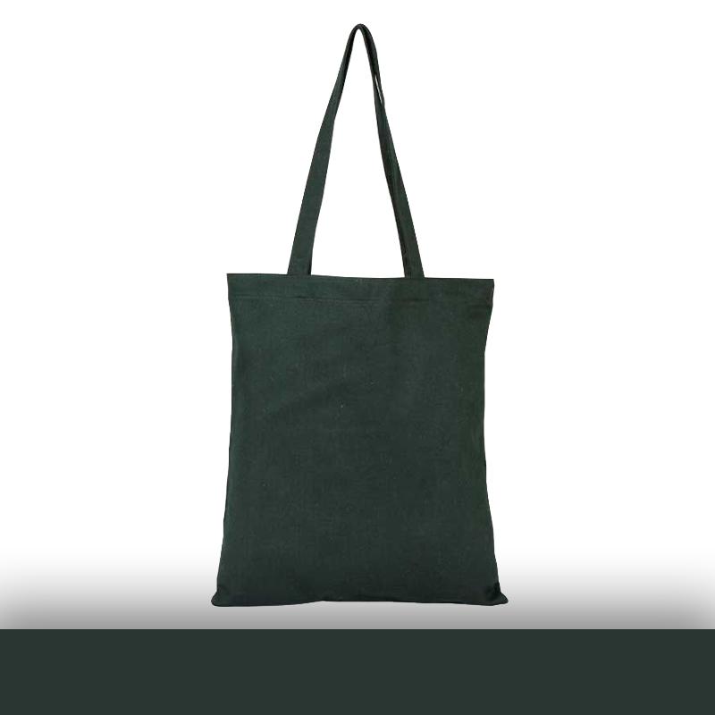 Siyah Renkli Baskısız Omuz Askılı Gabardin Bez Çanta