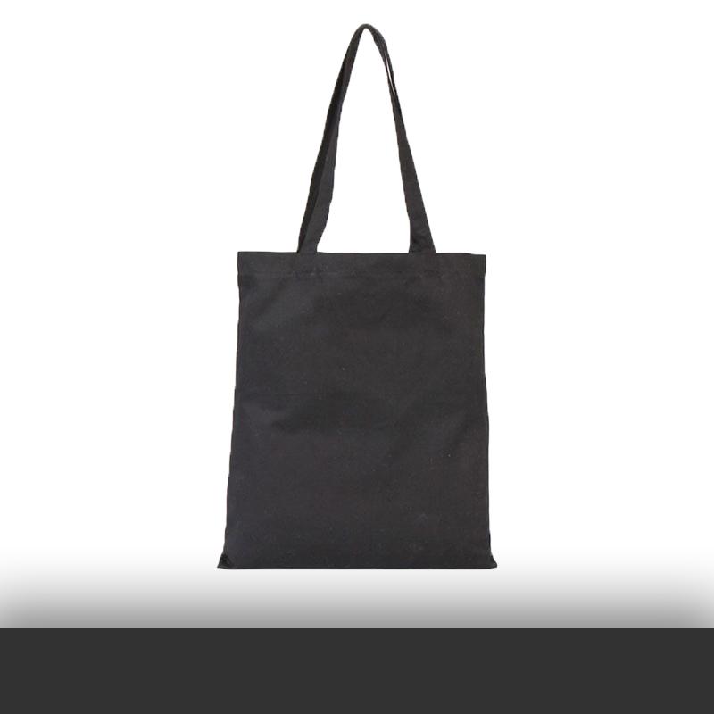 Siyah Renkli Baskısız Gabardin Bez Çanta