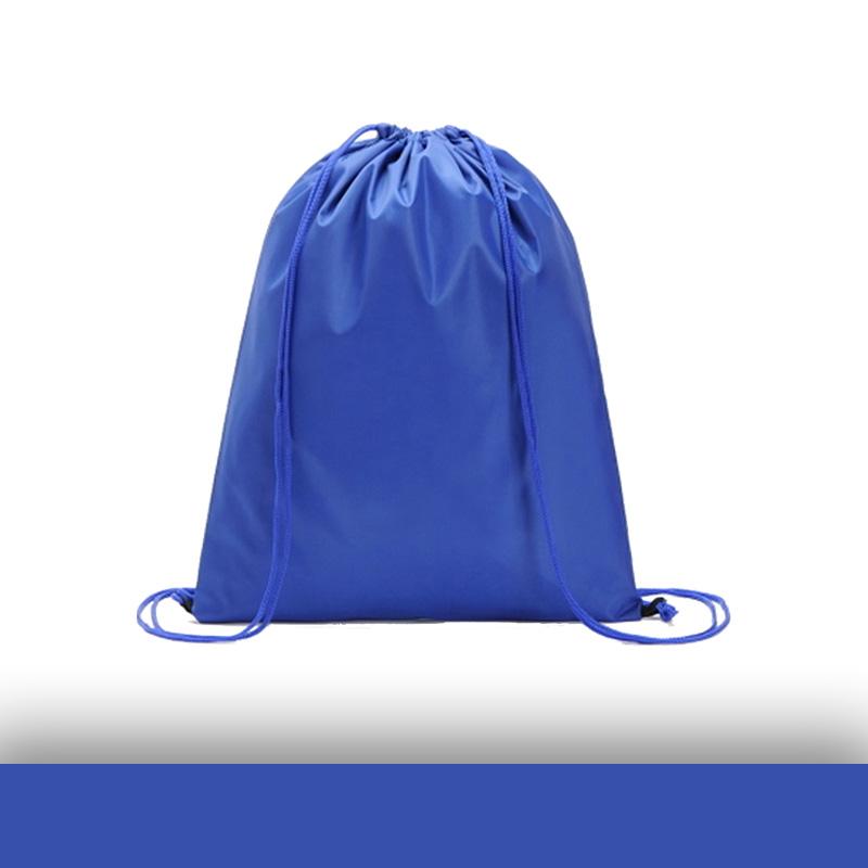 Mavi Renk Baskısız Ağzı Büzgülü İmperteks Sırt Çanta