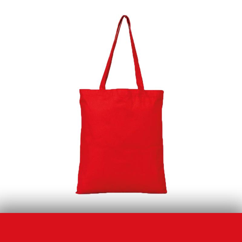 Kırmızı Renkli Baskısız Gabardin Bez Çanta