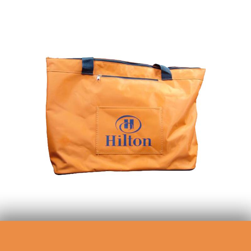 Turuncu Baskılı Logo Baskılı İmperteks Çanta